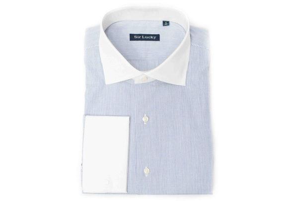 camisa-rayas-azules-cuello-blanco