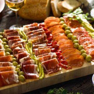 decoracion de comida en boda