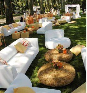 decoracion de exterior en boda