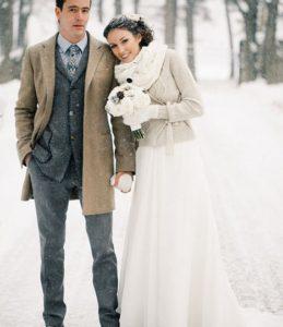 guantes de invierno para novia