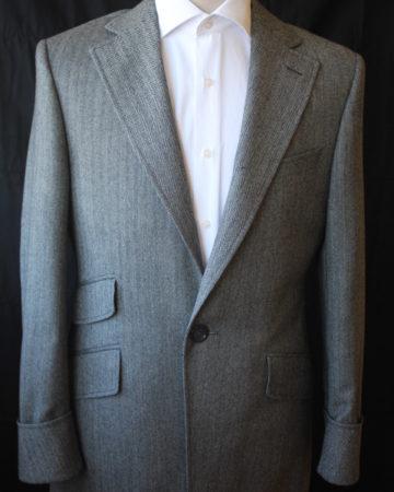 abrigo espiga gris