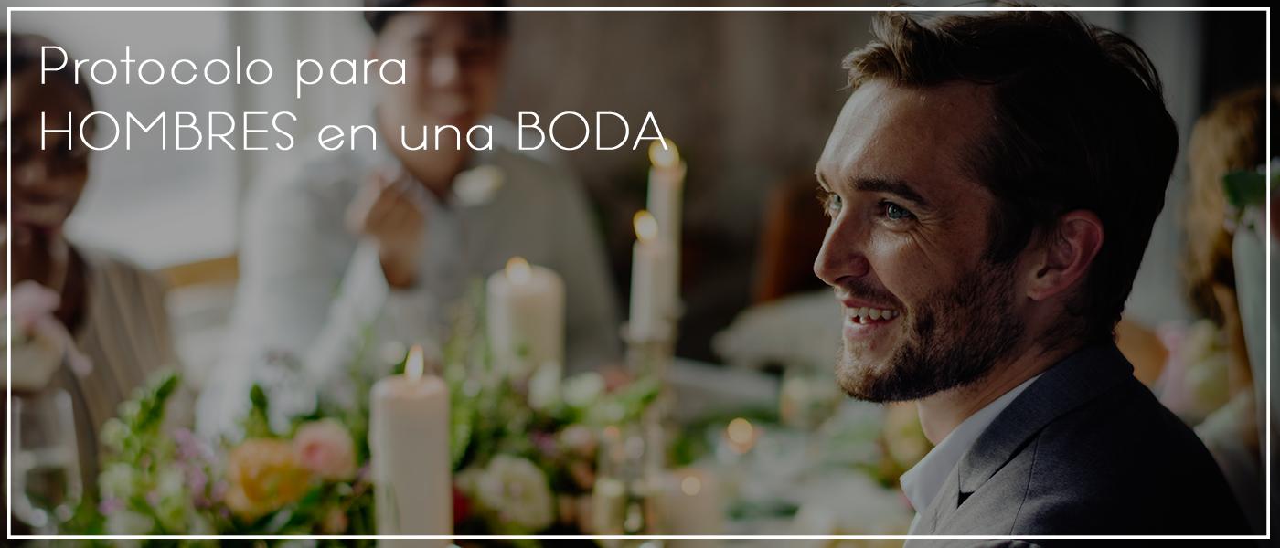 Protocolo para hombres en una boda